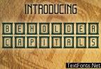 Beholder Capitals Font