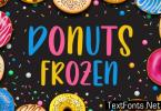 Donuts Frozen Font