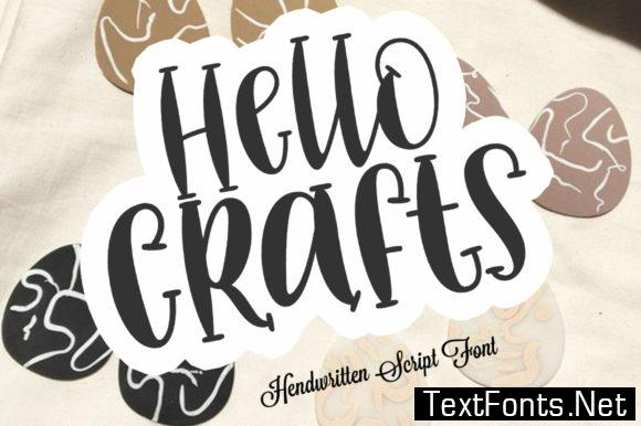 Hello Crafts Font