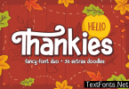 Hello Thankies Font