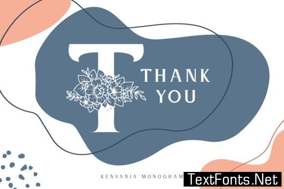 Kenvania Monogram Font