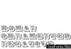 Roman Ornamented Font