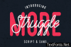Struggle More Duo Font