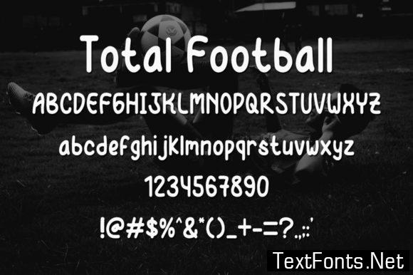 Total Football Font