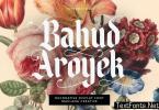 Bahud Aroyek Decorative Display Font Blackletter
