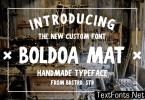 Boldoa Mat Font