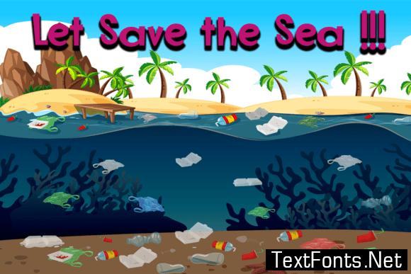 Bottom Sea Font