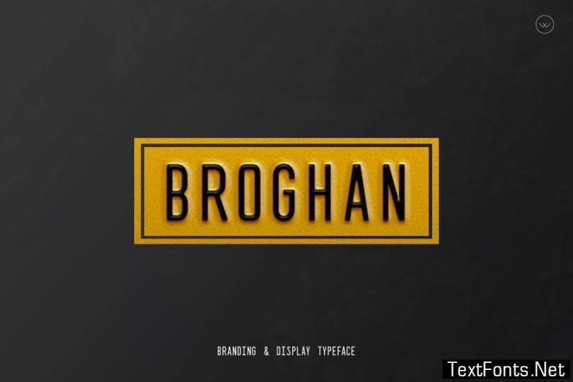 Broghan- Modern Typeface + WebFonts