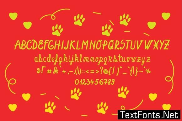 Dog Glitter Font