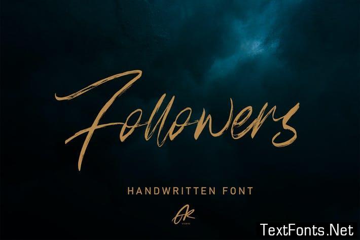 Follower Handwritten Brush Font