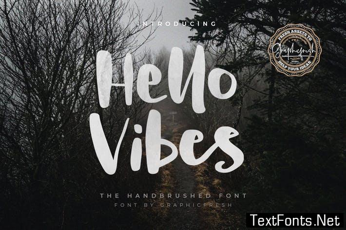 Hello Vibes - The Handbrushed Font
