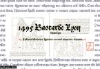 1495 Bastarde Lyon V2 Font