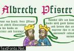 Albrecht Pfister Font