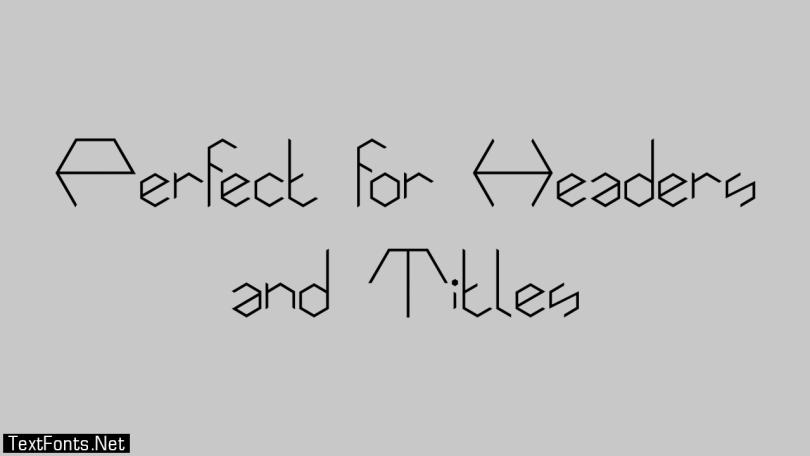 Hexafont Font