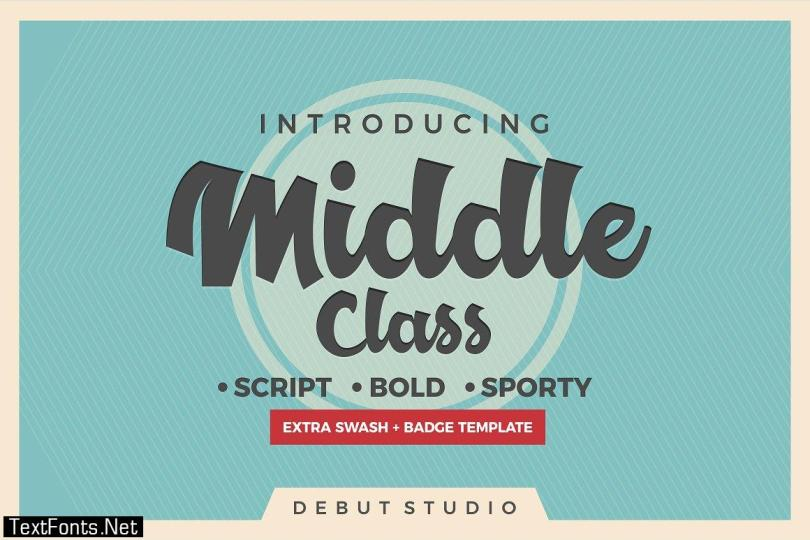 Middle Class Font