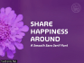 Share Happiness Around Font