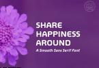 Share Happiness Around Font