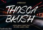 Thosca Brush Font