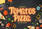 Tomatoz Pizza Display Font