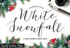 White Snowfall Font