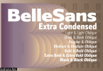 Belle Sans Extra Condensed Family Font