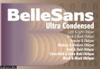 Belle Sans Ultra Condensed Family Font