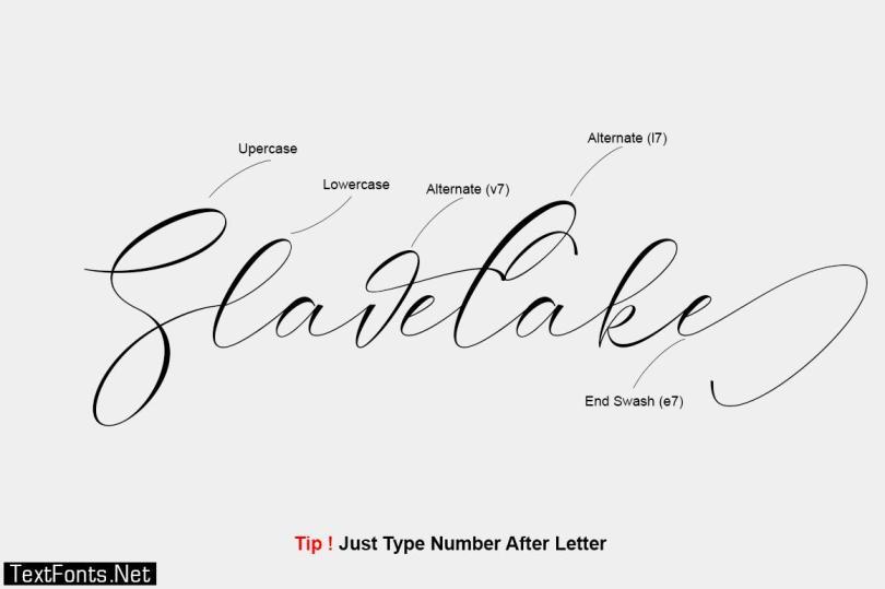 Slavelake Font