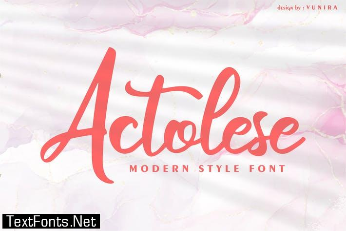 Actolese | Modern Style Font