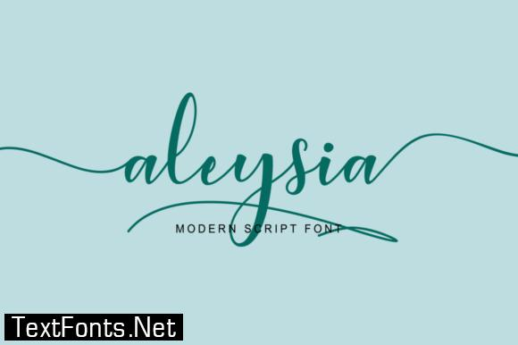 Aleysia Script Font