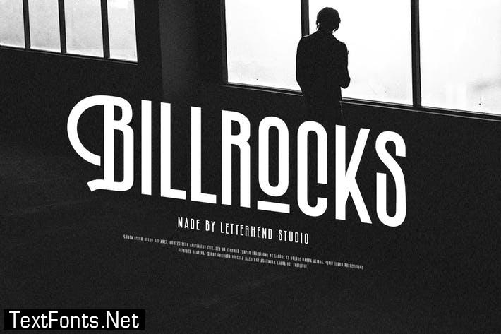 Billrocks - Sans serif Display Font