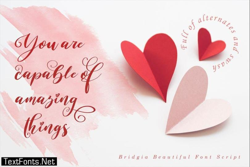 Bridgia Valentine Font