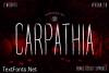 Carpathia Font