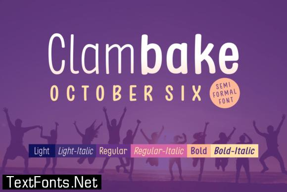 Clambake October Six Font