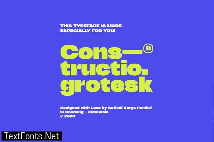 Constructio Grotesk Font
