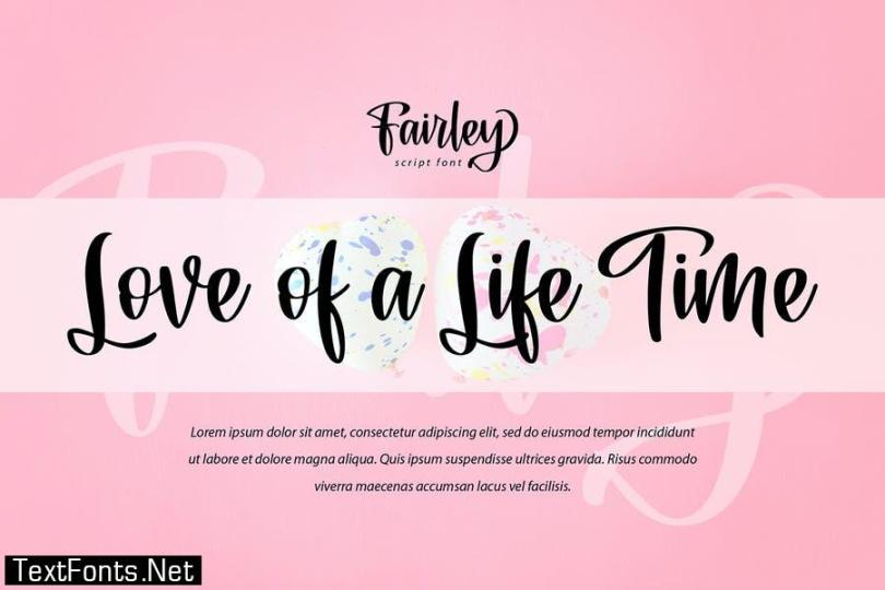 Fairley   Smoothly Handwriting Script Font
