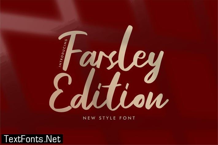Farsley Edition New Style Font