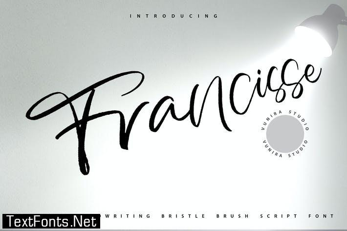 Francisse | Handwriting Brush Script Font