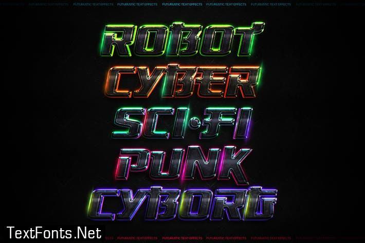 Futuristic Text Effects - Photoshop PSD Y3X43FV
