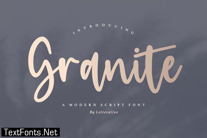 Granite Script Font YH
