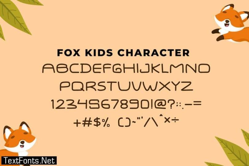 QR FOX KIDS Font
