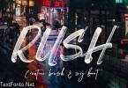 Rush Brush & SVG Font