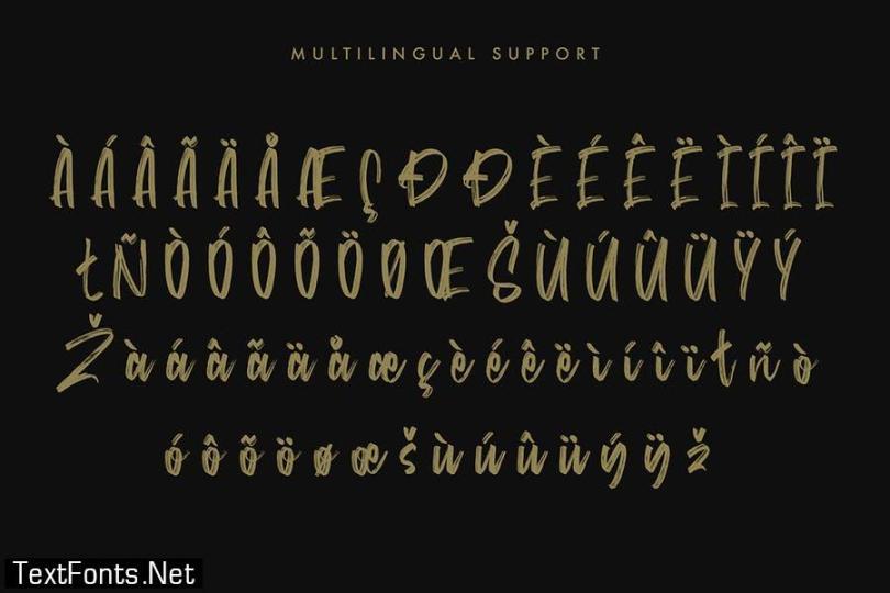 Satturns - Brush Script Font
