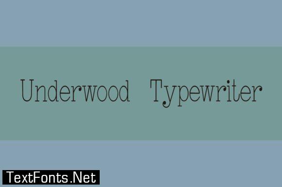 Underwood Typewriter Font