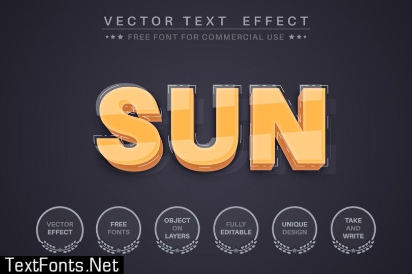 3D yellow - editable text effect, font style ST2U7Y9
