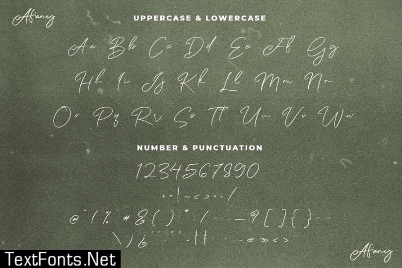 Afiany Brush Handwritten Script Font