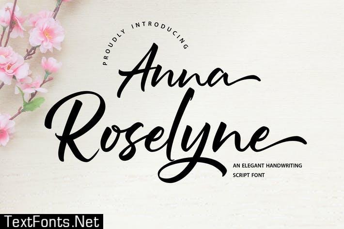 Anna Rosselyn | Elegant Handwriting Script Font