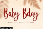 Baby Bday - Cute Brush Calligraphy Font
