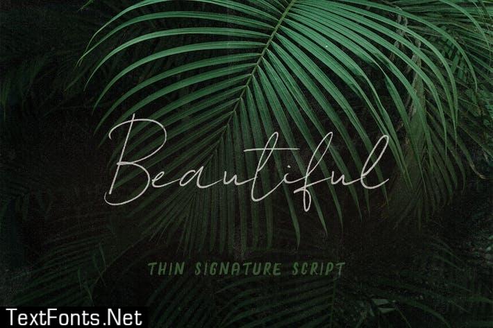 Beautiful SVG Script Font