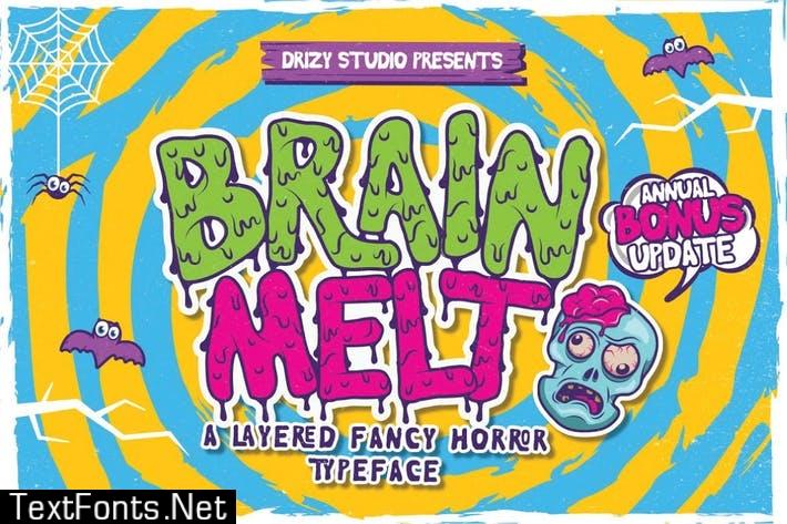Brain Melt Font