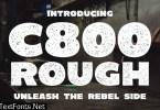 C800 Rough - Bold Sans Serif